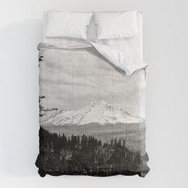 Mount Shasta, and neighboring mountain Shastina, Siskiyou County, ca.1900-1940 Comforters