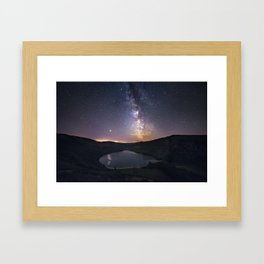 (RR 294) Milky Way above Lough Tay - Ire Framed Art Print