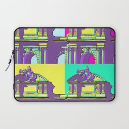 Architecture of Madrid in Pop-Art Puerta de Alcala Laptop Sleeve