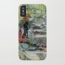 Birds on a Beach with Lovers, Eggs, and Flowers iPhone Case