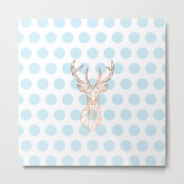 Geometric Deer Metal Print