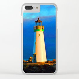 Walton Ligthouse Clear iPhone Case