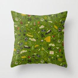 Moonrise Kingdom Plot Pattern Throw Pillow
