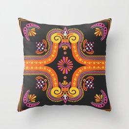 Holi Woodstock Throw Pillow