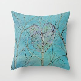 THE TREES SPEAK TO ME IN WHISPERS Throw Pillow