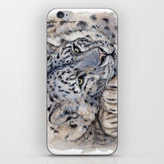 Snow Leopard Resting 778 iPhone & iPod Skin