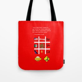 Red Party Tote Bag