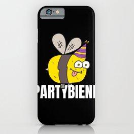 Partybiene, bee cool, Coole Biene iPhone Case