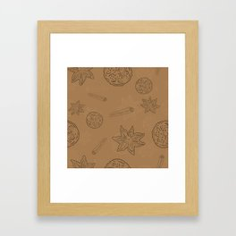 Pattern with Cinnamon and lemon Framed Art Print