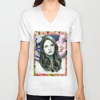 ultraviolence V-neck T-shirts featuring ULTRAVIOLENCE by Jethro Lacson