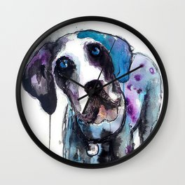 Great Dane Drip Picture Wall Clock