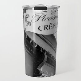Les Crepes BW Travel Mug