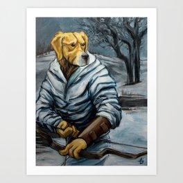 Golden Hunter Art Print