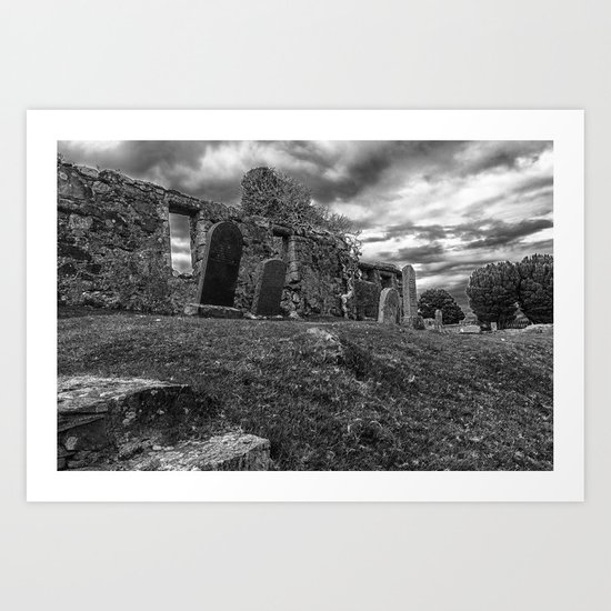 Ruins of the Cill Chriosd Church and Cemetery Art Print