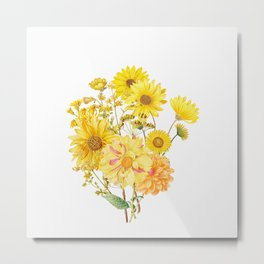Vintage & Shabby Chic - Late Summer Flowers Metal Print