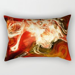 Red smoke background Rectangular Pillow