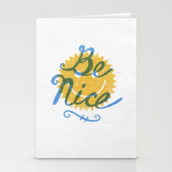 Be Nice. Stationery Cards