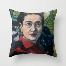 Simone DeBeauvoir Throw Pillow