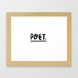 rendez-vous at the poetry section. Framed Art Print
