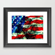 Military Branches of Service Framed Art Print