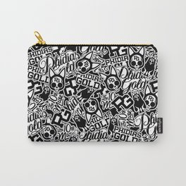 Phidias Gold Sticker Pattern Carry-All Pouch