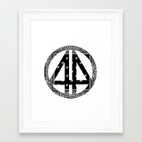 bands Framed Art Prints featuring Floral bands by ART ON CLOTH