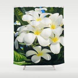 Tropical Exotic Fragrant Plumerias From Happy Hawaiian Islands Shower Curtain