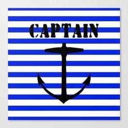 Captain and anchor logo Canvas Print