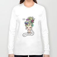 marie antoinette Long Sleeve T-shirts featuring Marie Antoinette by Kittymacdraws