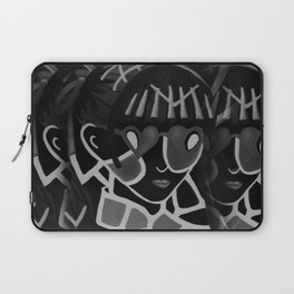 Girl from the Past by Lu, black-and-white Laptop Sleeve