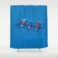 pills Shower Curtains featuring Sleeping Pills by awkwardyeti