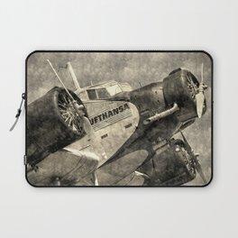 Lufthansa Junkers Ju 52 Vintage Laptop Sleeve