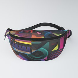 Colorful graphic music instrument Fanny Pack