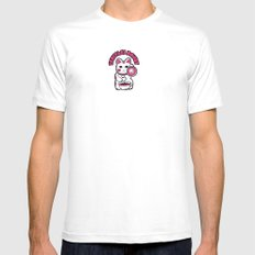 Japanese Donuts White Mens Fitted Tee MEDIUM