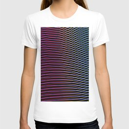 lines and patterns wing light painting T-shirt