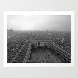 Saint Mark's Square in black and white Art Print