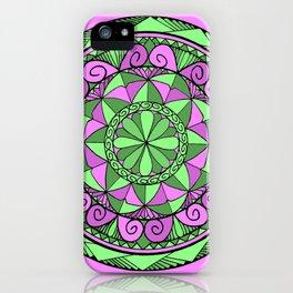 Indigo Mandala iPhone Case