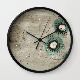 Sepia Circles Left Wall Clock