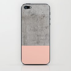Pale Pink on Concrete iPhone & iPod Skin