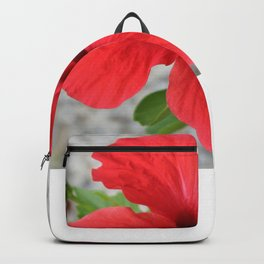 A Stunning Scarlet Hibiscus Tropical Flower Backpack