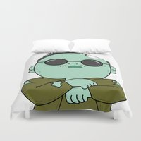 zombies Duvet Covers featuring zombies style by Damian