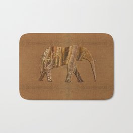 Rainforest Elephant - Tribal African Art Style Bath Mat