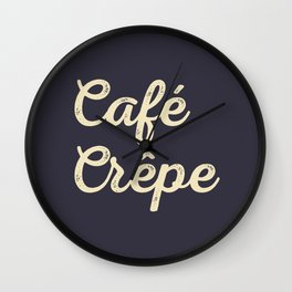 Café Crêpe / Coffee Crepe Wall Clock