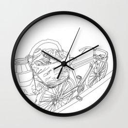Tacos de canasta Wall Clock