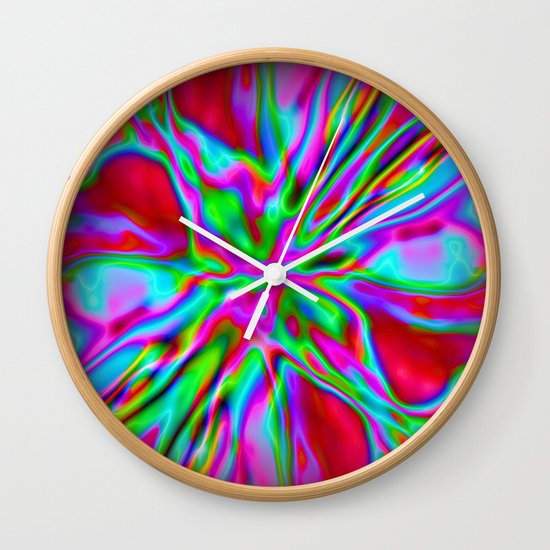 Colorfoil Radiates Red Wall Clock
