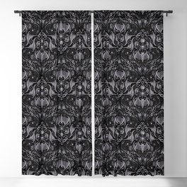 Bats And Beasts - Black and Gray  Blackout Curtain