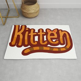 Kitten tshirt graphic design for cats lovers Rug