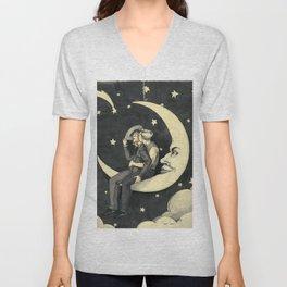 Paper Moon  Unisex V-Neck