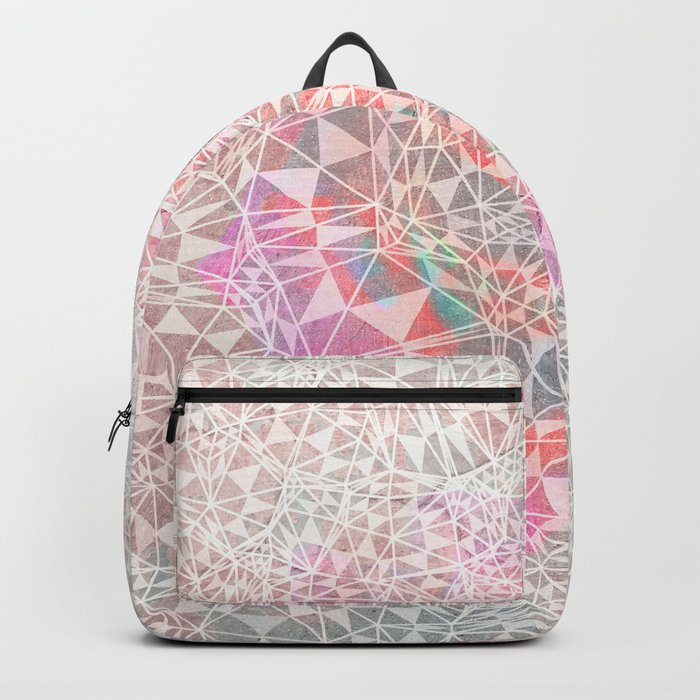 Geo batik pattern - pink Backpack