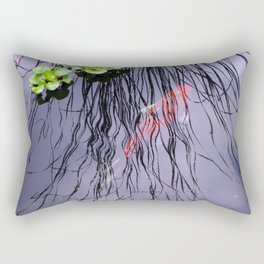 GoldFish In The Pond By Annie Zeno Rectangular Pillow